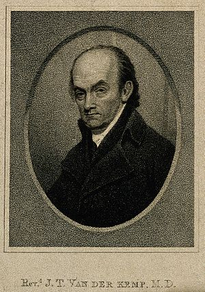 Johannes van der Kemp - Johannes van der Kemp, 1799 stipple engraving by William Ridley (1764– 1838).