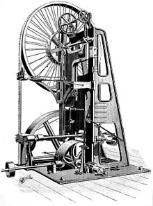 Bandsaw on commercial construction plans