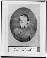 John Lawrence Rapier, Pvt., Louisiana 1st Battalion Zouaves, head-and-shoulders portrait, facing front LCCN2005695737.jpg