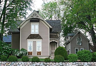 Mequon, Wisconsin - The John Reichert Farmhouse, built in 1885.