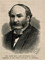 John William Strutt, 3rd Baron Rayleigh. Wood engraving by ( Wellcome V0004947.jpg