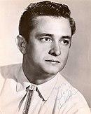 Johnny Cash a inizio carriera in una foto pubblicitaria della Sun Records
