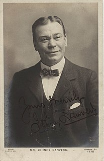 Johnny Danvers actor, comedian and music hall performer