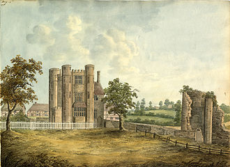 My Lord John - Kenilworth Castle (pictured in 1799), where much of the early story takes place