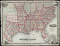 Johnsons new rail road & county copper plate map of the Southern States from the latest and best information (8347346918).jpg