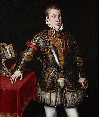 Carlos, Prince of Asturias - Portrait of Don Carlos by Jooris van der Straeten