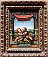 Joos van cleve e bottega, gesù bambino abbraccia san giovannino, 1520-25 ca.jpg