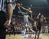 Justin Hammonds layup - Air Force at UNLV basketball 1-31-2015.jpg