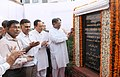 K. Rahman Khan unveiling the plaque to lay the foundation stone of the Central Wakf Bhawan, in New Delhi. The Minister of State for Minority Affairs, Shri Ninong Ering and the Secretary, Ministry of Minority Affairs.jpg