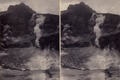 KITLV - 180504 - Kurkdjian, Ohannes - Soerabaya - Crater lake of Mount Kelud in East Java, presumably after the eruption in May 1901 - circa 1901.tiff