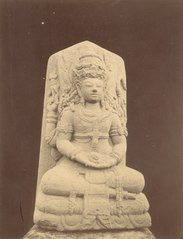 KITLV 87819 - Isidore van Kinsbergen - Hindu-Javanese sculpture comes from Kediri, moved to the Museum of the Batavian Society of Arts and Sciences in Batavia - Before 1900.tif