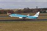 KLM Boeing 737-800 PH-BCB departing Tegel Airport, Berlin (IMG 9125).jpg