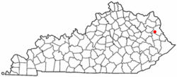 Location of Blaine, Kentucky