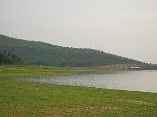 Kanva Reservoir lake in India