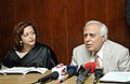 Kapil Sibal interacting with media on the launching of major mission Programme 'Screening for Bio-molecules from microbial diversity collected from different ecological niches', in New Delhi on February 22, 2008.jpg
