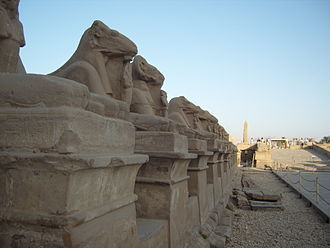 Precinct of Amun-Re - One of the corridors of sphinxes