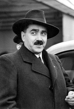 Karol Sidor - Sidor at Warsaw Airport, 19 October 1938