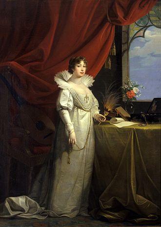 Princess Karoline Amalie of Hesse-Kassel - Karoline Amalie, Duchess of Saxe-Gotha-Altenburg, by Josef Mathias Grassi, 1804.