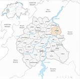 Karte Gemeinde Fribourg 2007