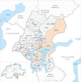 Karte von Lugano