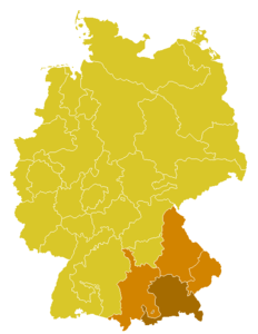 Map of the church province of Munich and Freising
