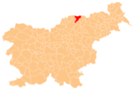 The location of the Municipality of Radlje ob Dravi