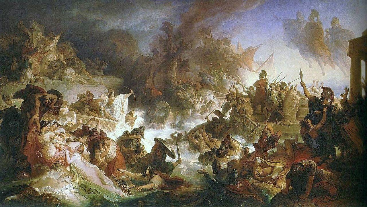 File:Kaulbach, Wilhelm von - Die Seeschlacht bei Salamis - 1868.JPG