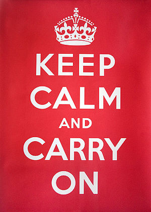 Keep Calm and Carry On UK government poster
