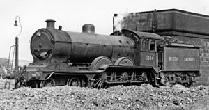 GER Class S69 - B12/4 4-6-0 No. 61504 at Keith Locomotive Depot 1948
