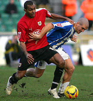 Kevin Betsy - Betsy in action for Bristol City.