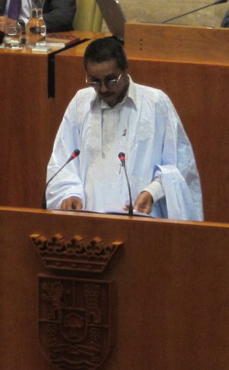President of the Sahrawi Arab Democratic Republic - Image: Khatri adduh parlamento extremadura (cropped)