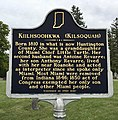 Kilsoquah Historic Sign Roanoke Indiana Glenwood Cemetery 02.jpg