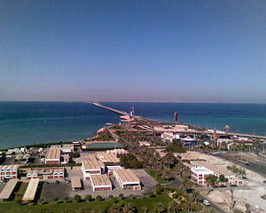 King Fahd Causeway - The causeway from the Bahrain side.