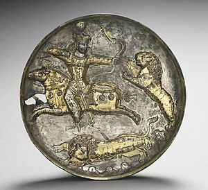 King Hormizd II of Hormizd III Hunting Lions, 400-600.jpg