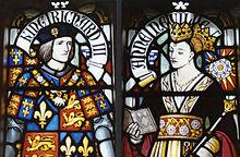 Vetrata con i ritratti di Riccardo III e di Anna Neville al Castello di Cardiff