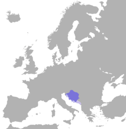 Location of Kingdom of Croatia (925–1102)