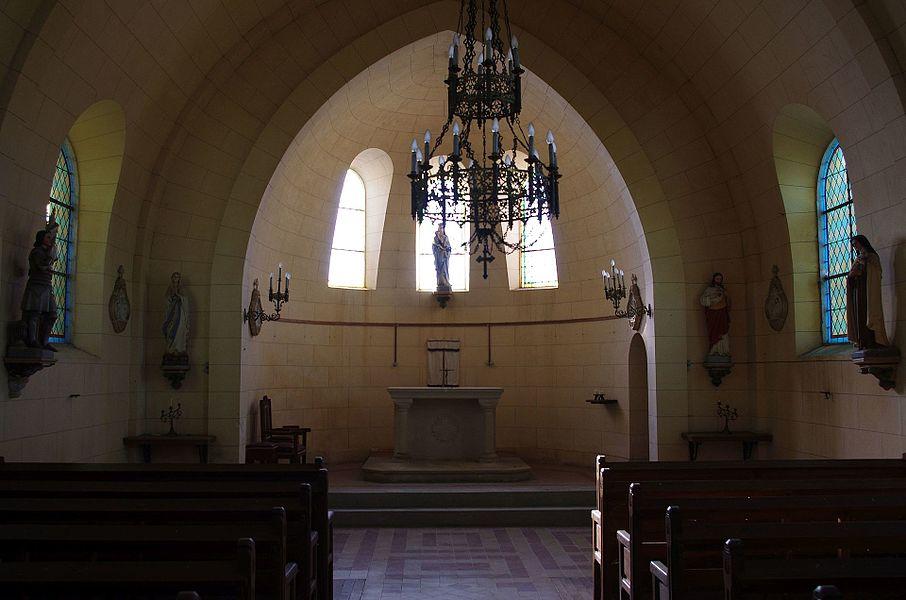 Lahayville im Department Mosel in Lothringen.Das Innere der Kirche aus demJahr 1747.