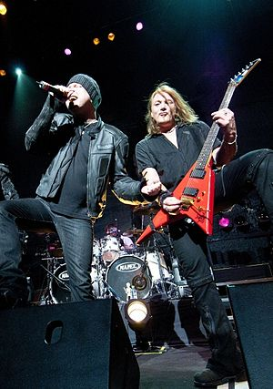 Michael Kiske - Michael Kiske (left) and Kai Hansen (right) live with Avantasia in 2010