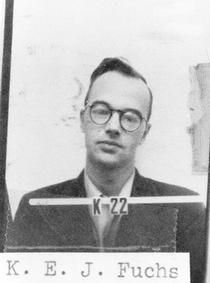 "Atomic spies - Klaus Fuchs, arguably the most important of the identified ""atomic spies"" for his extensive access to high-level scientific data and his ability to make sense of it through his technical training."