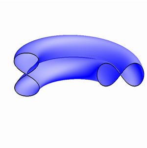 Klein bottle - Klein bagel cross section employing a figure eight curve (the lemniscate of Gerono).