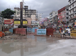 Kolkata Metro Railway - East West Corridor - Under Construction - Howrah Maidan - Howrah 2012-08-11 01569.png