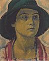 Kolo Moser - Junge Frau mit Hut - ca1913.jpeg