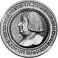 Konrad Peutinger-Medaille (1517), Stich von Hans Schwarz.jpg