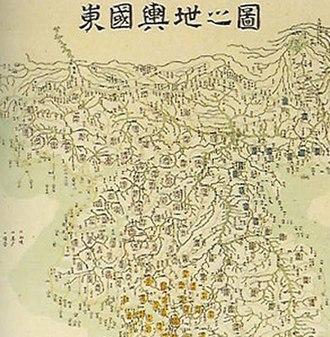 Yun Du-seo - Image: Korea map Dongguk yeoji jido by Yun Duseo