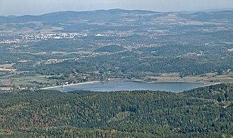 Jelenia Góra Valley - Jelenia Góra valley - view from Karkonosze (Great) Mountains to Kaczawskie Mountains.