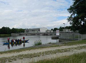 Donauwörth power plant with boat lock