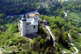 Pardubice Region - Kunětická Hora from air