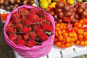 Kundasang - A vegetable stall in Kundasang also selling fruit such as rambutan, salak, orange, lemon and many more.