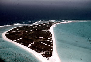Kure Atoll - The Green Island from the air