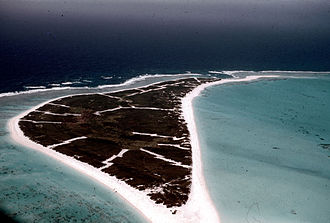Kure Atoll - Green Island from the air